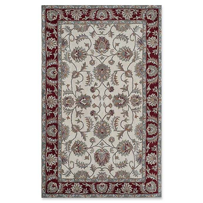Alternate image 1 for Rugs America New Dynasty 5' x 8' Area Rug in Ivory/Burgundy