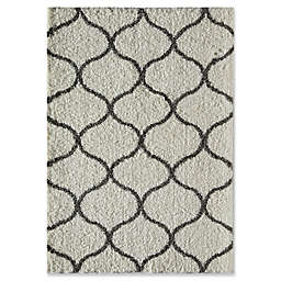 Rugs America Links 5' x 8' Shag Area Rug in Ivory/Charcoal