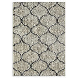 Rugs America Links 5' x 8' Shag Area Rug in Ivory/Grey