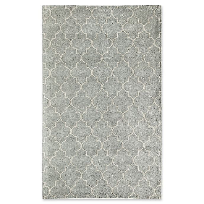 Alternate image 1 for Rugs America Delano Lattice 8' x 10'  Handcrafted Area Rug in Light Blue