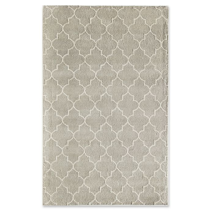 Alternate image 1 for Rugs America Delano Lattice 8' x 10'  Handcrafted Area Rug in Grey