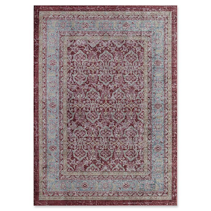 Alternate image 1 for Rugs America Asteria Floral Border 4' x 6' Area Rug in Red