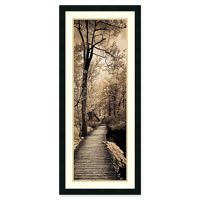 Alternate image 1 for Amanti A Quiet Stroll I 18.25-Inch x 42.25-Inch Framed Wall Art