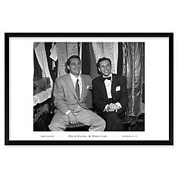Frank Sinatra and Perry Como 37-Inch x 25-Inch Framed Wall Art