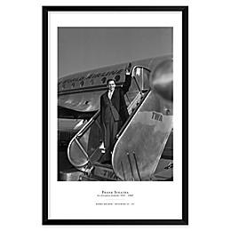 Frank Sinatra on TWA, NYC 25-Inch x 37-Inch Framed Wall Art
