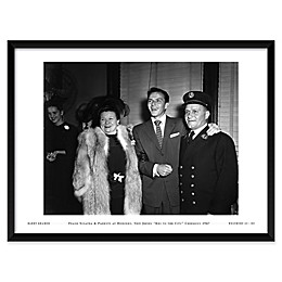 Frank Sinatra with His Parents Framed Wall Art