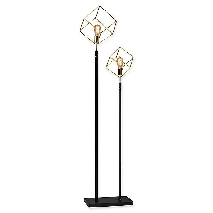 Adesso Otto Floor Lamp In Black Gold