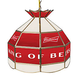 Budweiser™ Logo Stained 16-Inch Stained Glass Lamp in Red