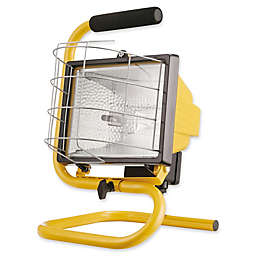 Globe Electric 1-Light Portable Halogen Work Light in Yellow