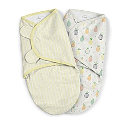 SwaddleMe® Original Small/Medium Pineapple Organic Cotton 2-Pack Swaddles in Yellow