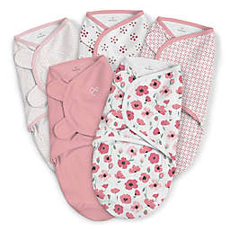5e2c7feeb SwaddleMe® Original Small/Medium Floral Cotton 5-Pack Swaddles in Pink