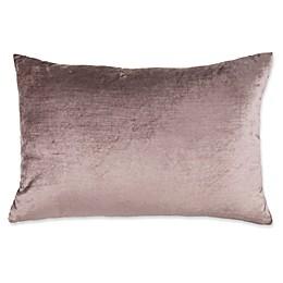 Plush Nest Velvet/Linen 14-Inch x 20-Inch Oblong Throw Pillow
