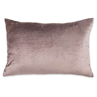 Plush Nest Velvet/Linen 14-Inch x 20-Inch Oblong Throw Pillow