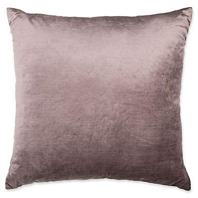 Plush Nest Velvet/Linen Square Throw Pillow