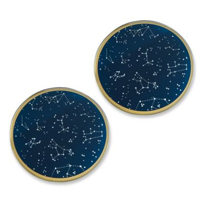 kate aspen under the stars glass coasters set of 12 bed bath beyond. Black Bedroom Furniture Sets. Home Design Ideas