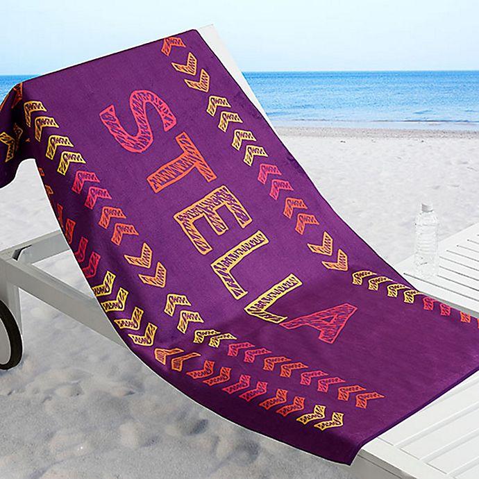 Alternate image 1 for Stencil Name Beach Towel