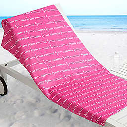 Playful Name Beach Towel