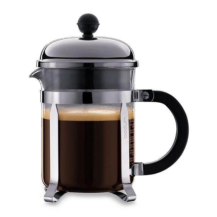 Alternate image 1 for Bodum® Chambord 17 oz. French Press Coffee Maker in Chrome/Black