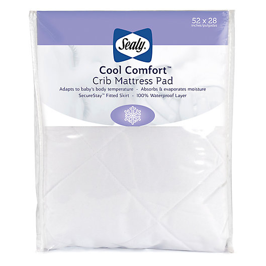 Alternate image 1 for Sealy® Cool Comfort Crib Mattress Pad