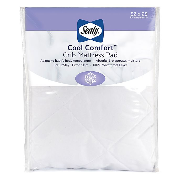 Alternate image 1 for Sealy® Cool Comfort Crib Mattress Pad