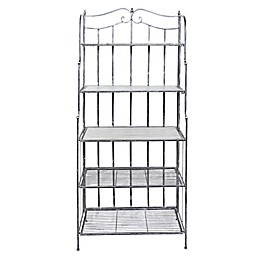 Old Dutch International Montclair Bakers Rack in Antique Pewter