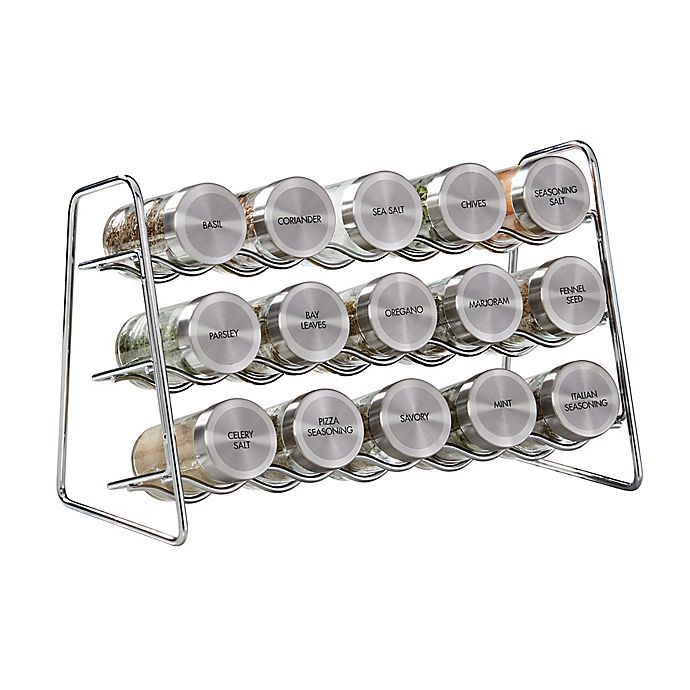 Alternate image 1 for Kamenstein® Cozzolino 16-Piece Spice Rack Set with Spices