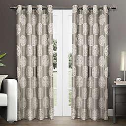 Akola 108-Inch Grommet Top Window Curtain Panel Pair in Light Grey