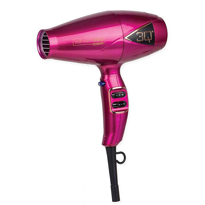 Alternate image 1 for Infiniti Pro by Conair® 3QMS Brushless Motor Hair Dryer in Fuchsia
