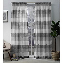 Exclusive Home Bern Rod Pocket Sheer Window Curtain Panel Pair