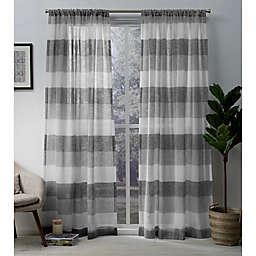 Exclusive Home Bern 2-Pack Rod Pocket Sheer Window Curtain