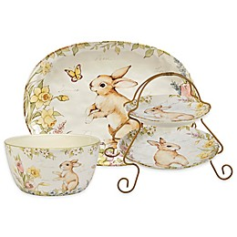 Certified International Bunny Patch by Susan Winget Serveware Collection