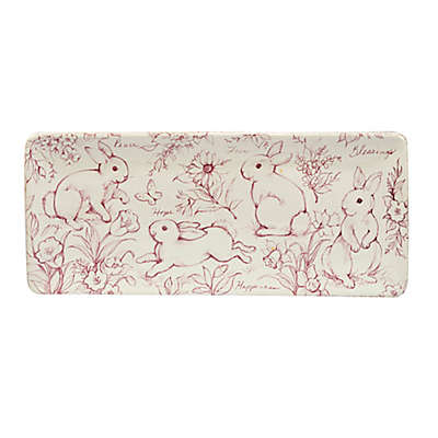 Certified International Bunny Patch by Susan Winget Rectangular Tray