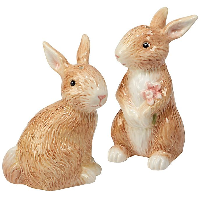 Alternate image 1 for Certified International Bunny Patch by Susan Winget Salt and Pepper Set