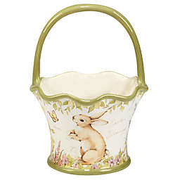 Certified International Bunny Patch by Susan Winget 3D Easter Basket