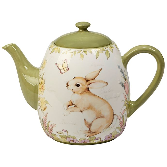 Alternate image 1 for Certified International Bunny Patch by Susan Winget Teapot