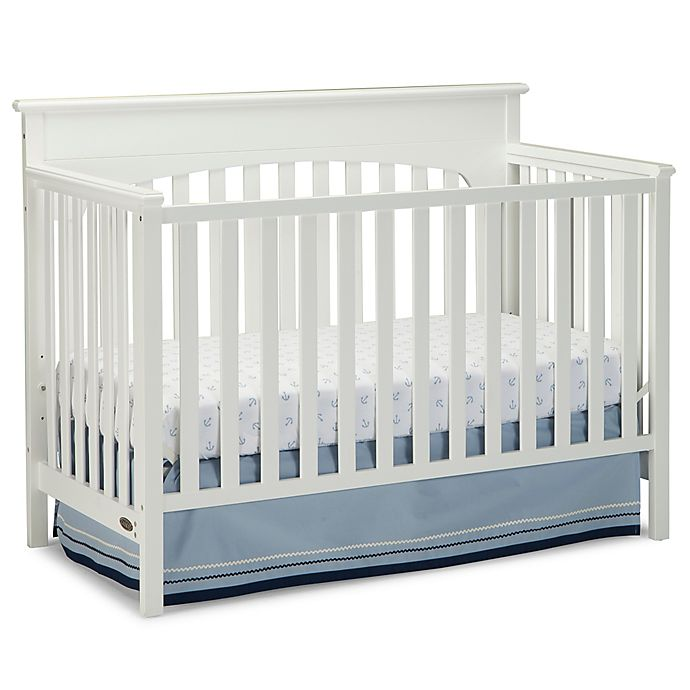 Alternate image 1 for Graco® Lauren 4-in-1 Convertible Crib in White