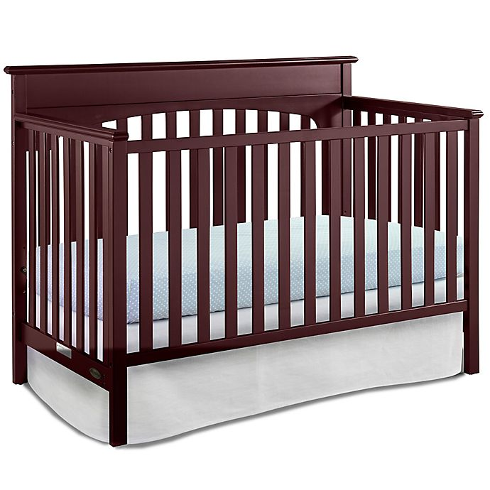 Alternate image 1 for Graco® Lauren 4-in-1 Convertible Crib in Cherry