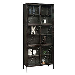 Pulaski Everett Metal and Glass Display Cabinet in Black