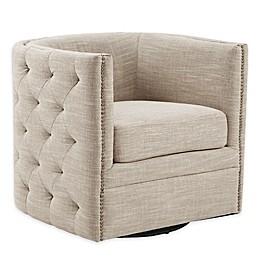 Madison Park Capstone Swivel Chair in Creme