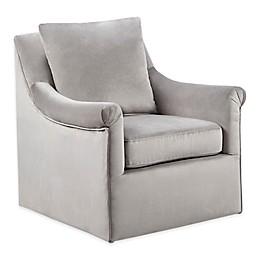 Madison Park Deana Swivel Chair in Grey