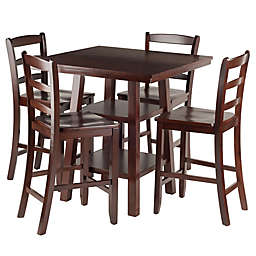 Winsome Orlando 5-Piece High Table and Stool Set