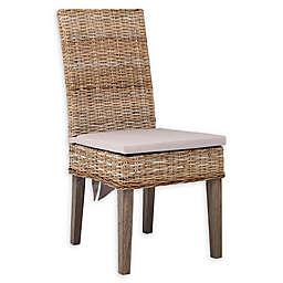 Scott Living Davenport Kubu Rattan Dining Chair in Grey