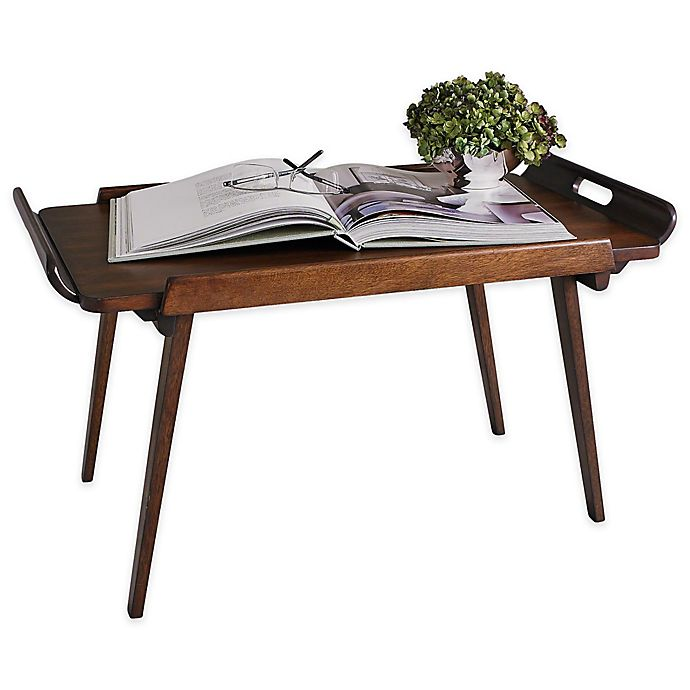 Alternate image 1 for Studio A Home Hemingway Folding Bed Tray in Brown