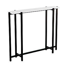 Southern Enterprises Helena Narrow Console Table in Black