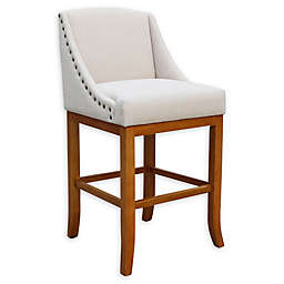 Linen Upholstered Bar Stool