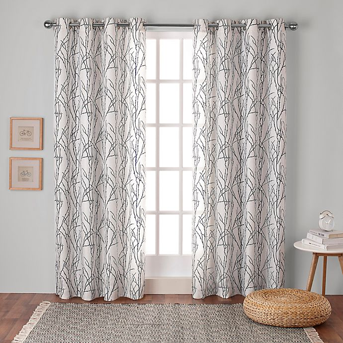 Alternate image 1 for Branches Grommet Top Window Curtain Panel Pair