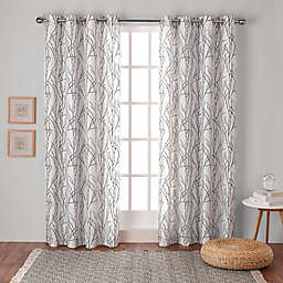 Branches Grommet Top Window Curtain  (Set of 2)