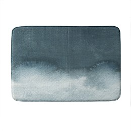 Deny Designs Elena Blanco Storm in Grey Memory Foam Bath Mat in Grey