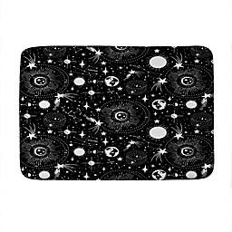 Deny Designs Heather Dutton Solar System Memory Foam Bath Mat in Black