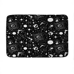 """Deny Designs 24"""" x 36"""" Heather Dutton Solar System Memory Foam Bath Mat in Black"""